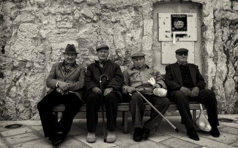 Men in Ostuni Puglia