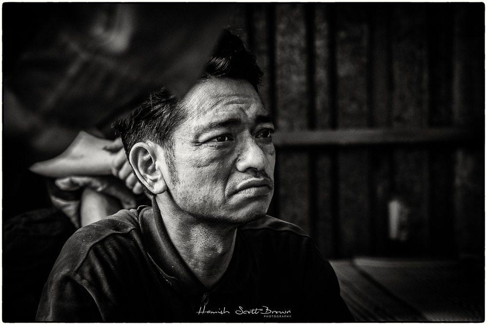 off duty worker at hanoi steel works vietnam ©Hamish Scott-Brown
