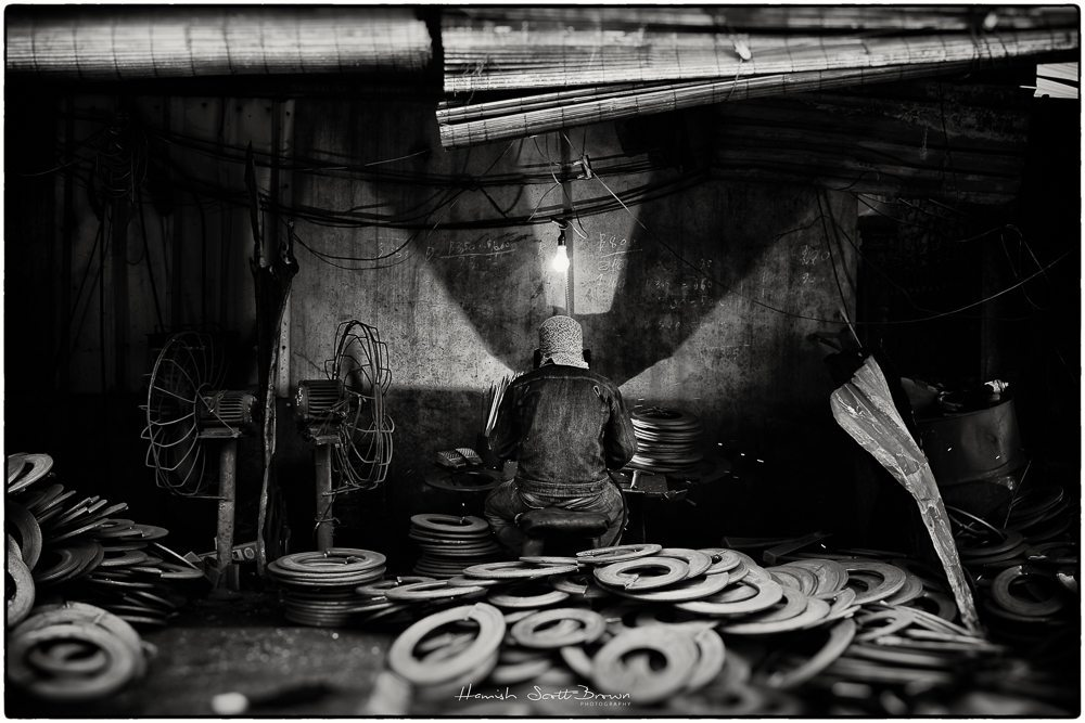 welder at hanoi steel works , vietnam © Hamish Scott-Brown
